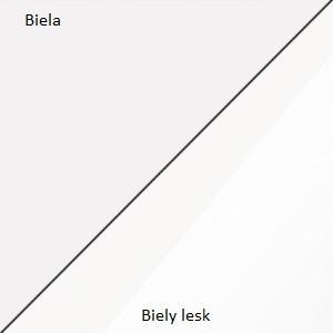 WIP Komoda King 03 Farba: Biela / biely lesk