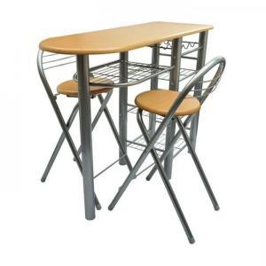 Komplet barový stôl + 2 stoličky