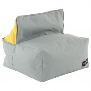 KONDELA Alimor sedací vak sivá / zelená / žltá