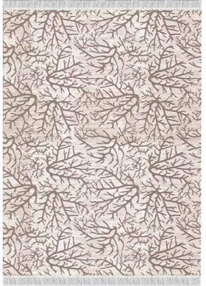 KONDELA Arila koberec béžová / vzor konár