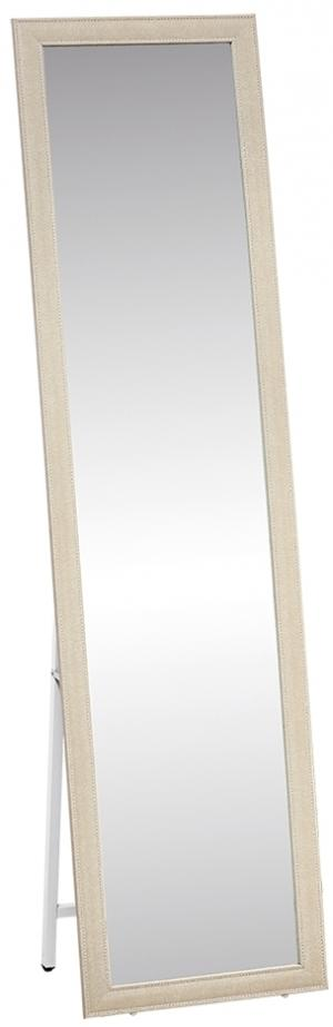 KONDELA Asuel stojace zrkadlo béžová / biela