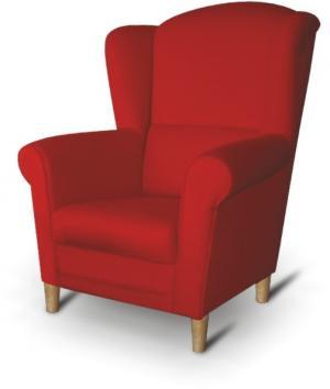 KONDELA Charlot kreslo (ušiak) červená