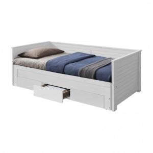 KONDELA Goreta jednolôžková posteľ s prístelkou biela