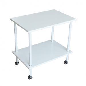 KONDELA Labon príručný stolík na kolieskach biela