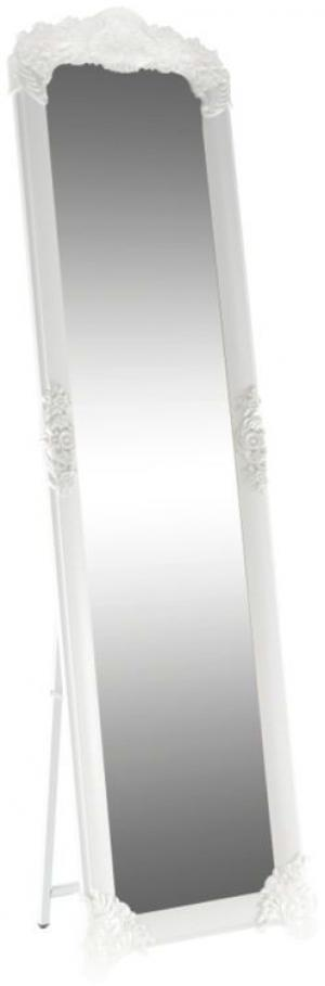 Kondela Stojanové zrkadlo, biela/strieborná, CASIUS