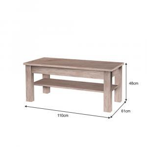 Konferečný stolík, san marino/cream, CHERIS 9