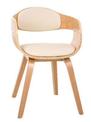 Konferenčná / jedálenská stolička drevená Kingdom (Súprava 2 ks), krémová