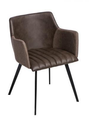 Konferenčná / jedálenská stolička Jerry, hnedá