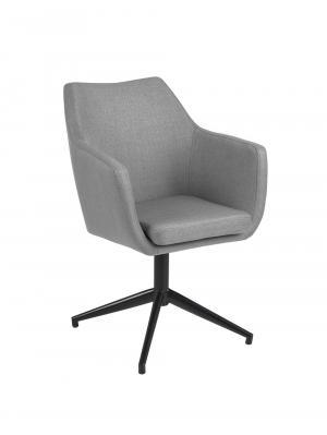Konferenčná / jedálenská stolička Marte otočná, sivá