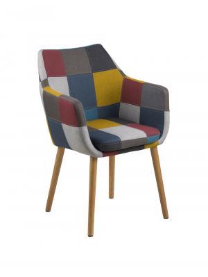 Konferenčná / jedálenská stolička s opierkami Marte, patchwork