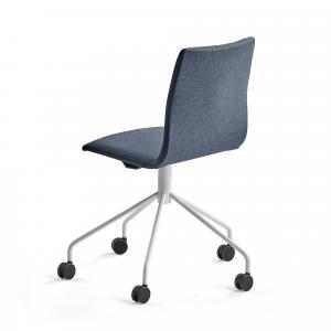 Konferenčná stolička Ottawa, s kolieskami, modrá/biela