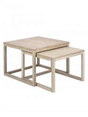 Konferenčné stolíky Canvas, 70 cm, 2 ks, pigmentovaný dub