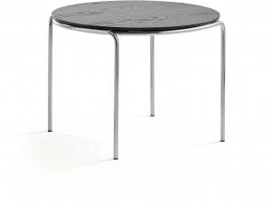Konferenčný stolík Ashley, Ø770 x 530 mm, chróm, čierna