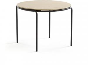 Konferenčný stolík Ashley, Ø770 x 530 mm, čierna, breza