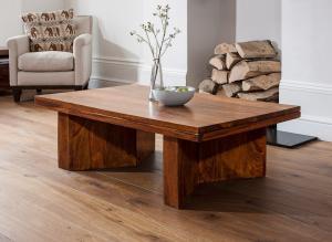 Konferenčný stolík Kali 110x45x60 indický masív palisander - Super natural