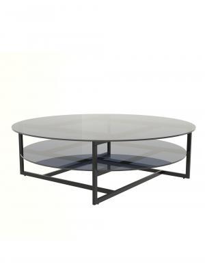 Konferenčný stolík Locika okrúhly, 120 cm, číre sklo