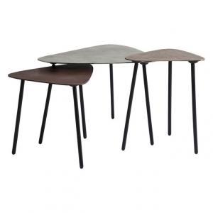 Konferenčný stolík Loft Triangle Vintage (3 / Set)
