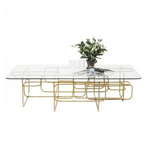 Konferenčný stolík Meander Gold 140 × 80 cm