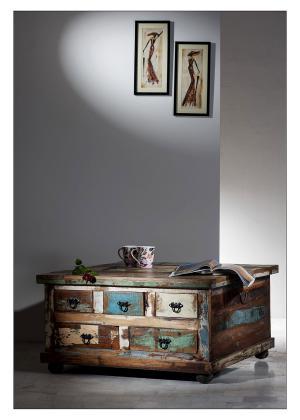 Konferenčný stolík RIVERBOAT – 90 × 90 × 47 cm
