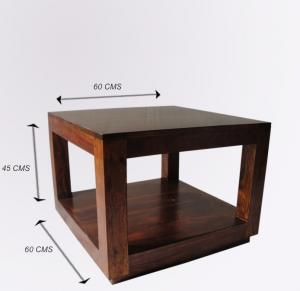 Konferenčný stolík Tara 60x45x60 indický masív palisander/sheesham - Only stain