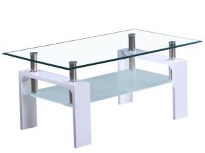 Konferenčný stolík Latasha NEW (extra vysoký lesk biely)
