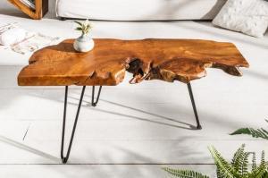 Konferenčný stolík Wild 100 cm z masívného dreva teak
