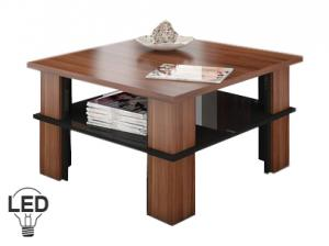 Konferenčný stolík Futura 1 (slivka + lesk čierny)