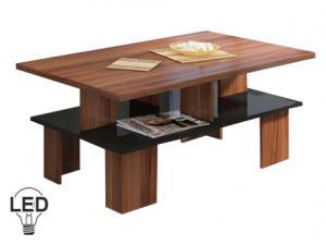 Konferenčný stolík - WIP - Supra 2 (slivka + lesk čierny). Sme autorizovaný predajca WIP.