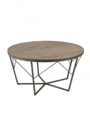 Konferenčný stolík z recyklovaného brestu Carolina, 90 cm