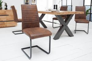 Konzolová stolička Douglas antik hnedá - čierna