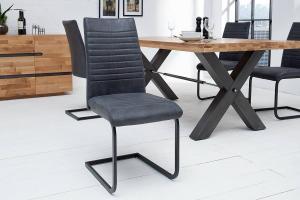 Konzolová stolička Douglas antik sivá - čierna