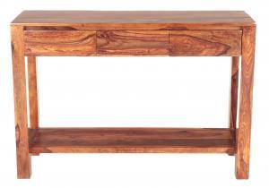Konzolový stolík Gani 130x35x76 indický masív palisander - Natural