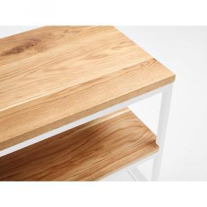 Konzolový stolík z dubového dreva Custom Form Julita, výška 50 cm