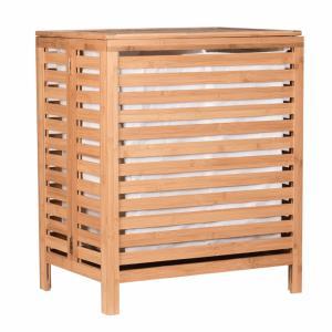 Kôš na bielizeň MENORK bambus / látka Tempo Kondela Hnedá