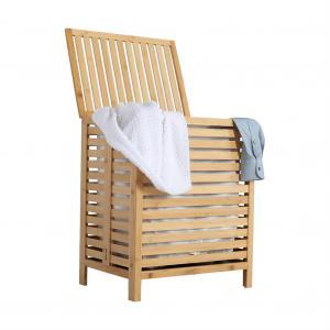 Kôš na bielizeň, prírodný bambus/biela, MENORK