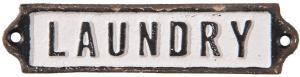 Kovová ceduľka Laundry - 15*1*3 cm