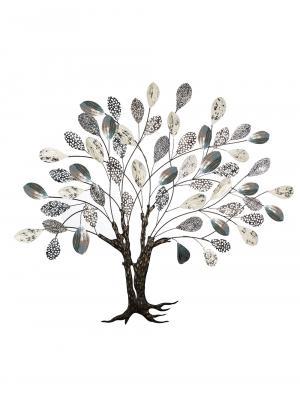 Kovová nástenná dekorácia Strom, 115 cm