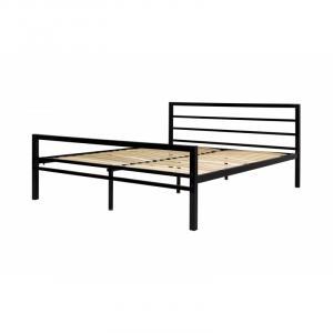 Kovová postel Eveline 160x200 dvoulůžko - černé