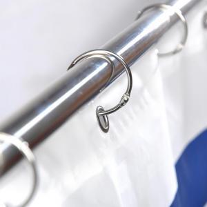 Kovové háčiky pre sprchový záves 12 ks