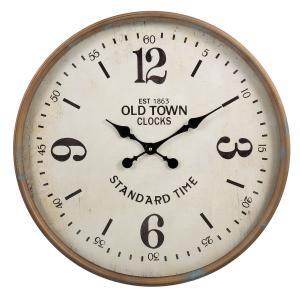 Kovové okrúhle hodiny Old town - Ø 60*6*60 cm