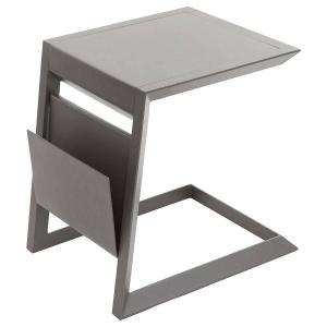Kovový odkladací stolík LISABON (šedo-hnedá)