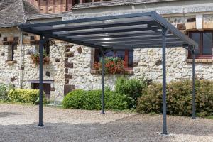 Kovový přístřešek / carport 297 x 494 cm Dekorhome