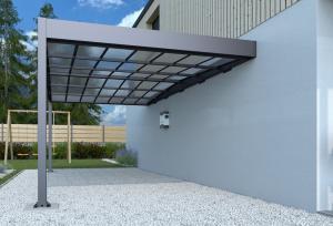 Kovový prístrešok / carport k stene 315 x 502 cm Dekorhome