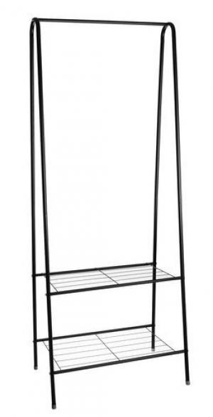 Kovový šatníkový organizér iso 5642, 153 cm