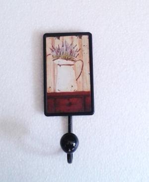 kovový vešiak levanduľový 7 x 20 cm