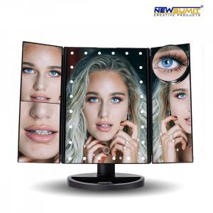 Kozmetické LED zväčšujúce zrkadlo Newsumit 0236, čierne