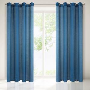 Krásna interierová záclona v modrej farbe 250 cm