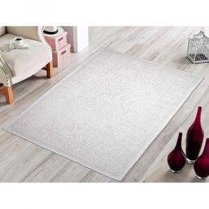 Krémovobiely bavlnený koberec Vitaus Osmanli, 80×150cm