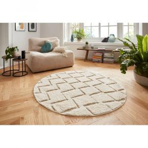Krémovobiely koberec Mint Rugs Handira, ⌀ 160 cm