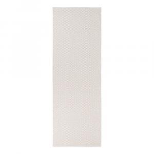 Krémovobiely behúň vhodný do exteriéru Narma Diby, 70 × 300 cm
